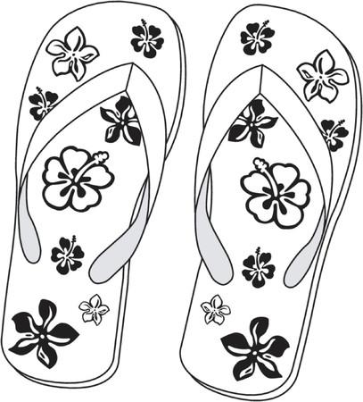 Pair of beach sandals Stock Vector - 468340