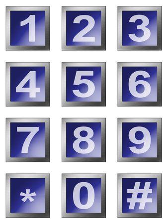 teclado num�rico: telclado num�rico num�rico en el fondo blanco