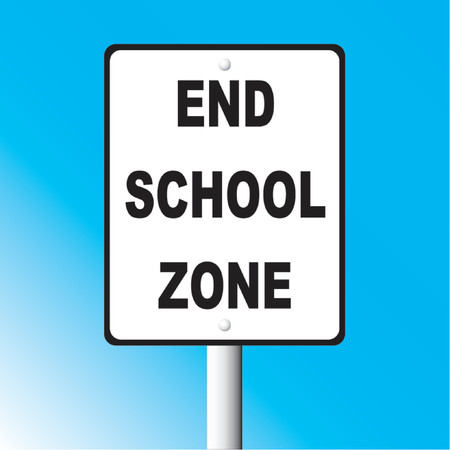 School zone sign Vector