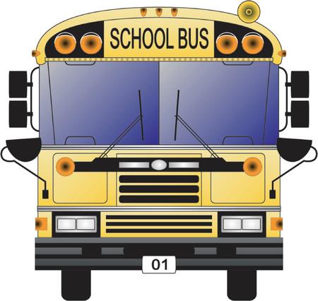 transport scolaire: Des autobus scolaires  Illustration