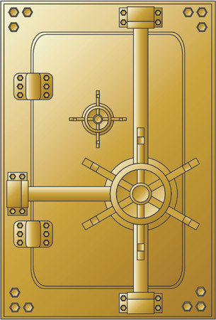 Gold safe Stock Vector - 477208
