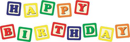 Toy cubes Happy Birthday Stock Vector - 477205