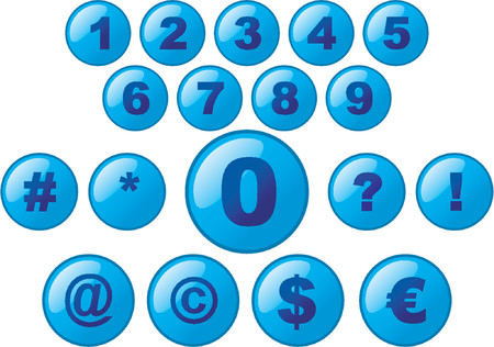 Vectorial glass buttons with numbers Stock Vector - 477207