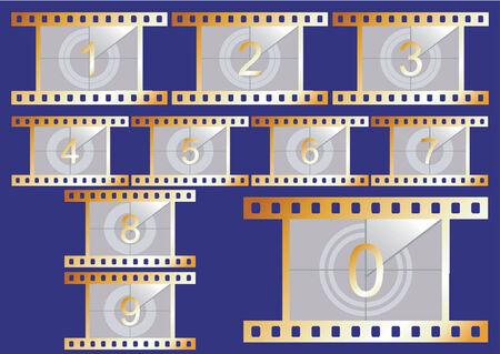 시뮬레이션: Simulation of a film countdown