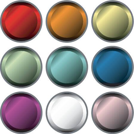 vectorial: Vectorial metallic button