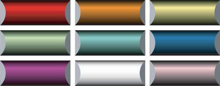 rollover: Vectorial metallic button