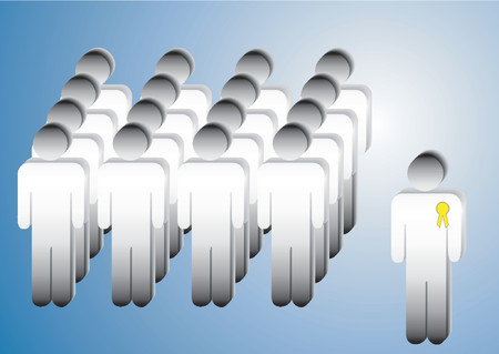 teamleider: Team en teamleider Stock Illustratie