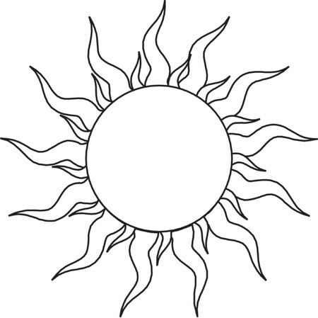 sun rising: Sun Illustration