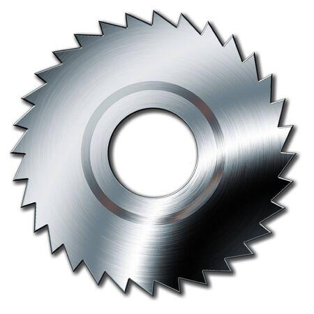 circular saw: Circular saw in white background Stock Photo