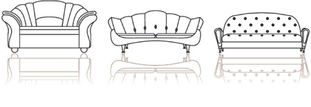 Furniture Armchair Sofa Vector