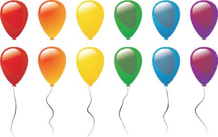 inflar: Globos de diferentes colores