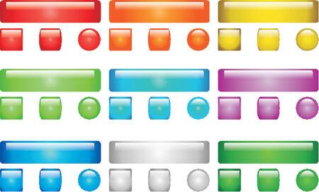 vectorial: Vectorial glass button Illustration