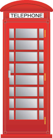 outside box: Telephone box Illustration