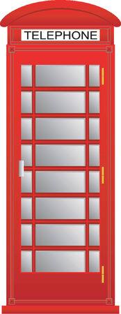 telephone box: Telephone box Illustration