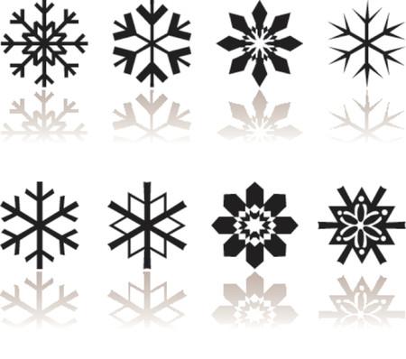 snow flakes: Sneeuwvlokken met bezinning