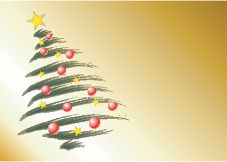 Christmas theme Christmas tree Vector