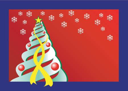 Christmas theme Christmas tree Vector