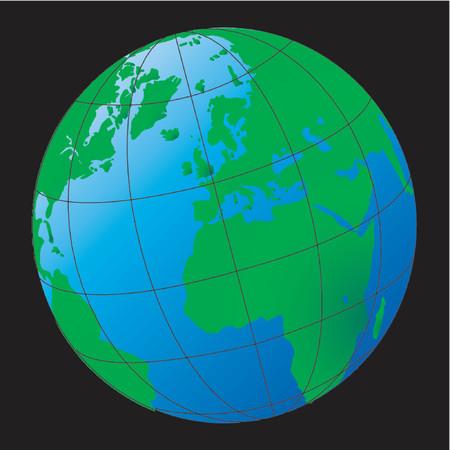 Terrestrial globe Vector