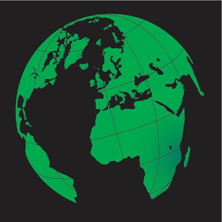 Terrestrial globe Stock Vector - 568291