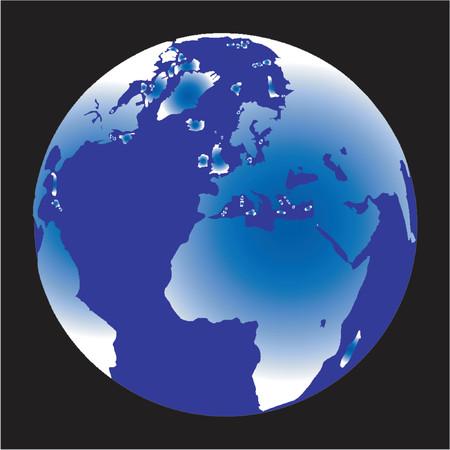 Terrestrial globe Stock Vector - 568290