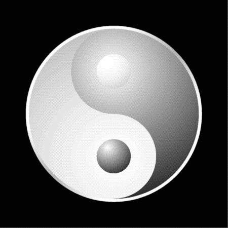 opposites: Yin Yang symbol Illustration