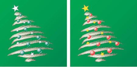 Christmas tree_Christmas theme Vector