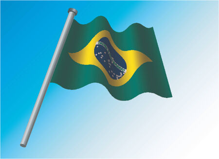 anthem: Brasilian flag Illustration