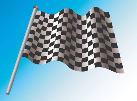 indianapolis: Checkered flag Illustration