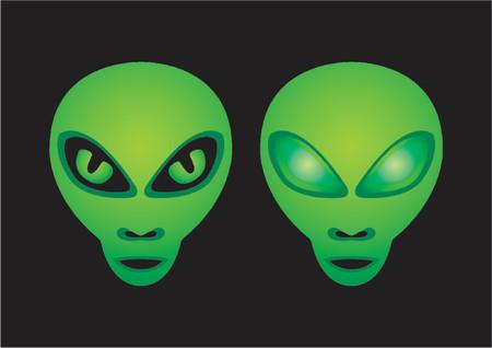 weerzinwekkend: Alien hoofden