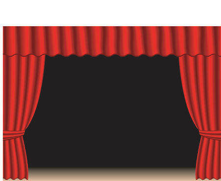 Old fashion theater curtains Vector