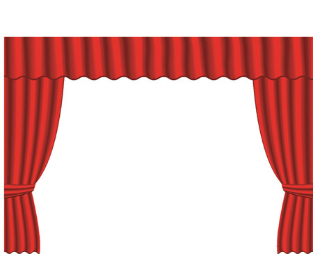Old fashion theater curtains