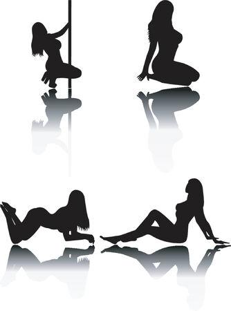 Women silhouettes Illustration