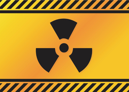 infectious waste: Radioactive sign Illustration
