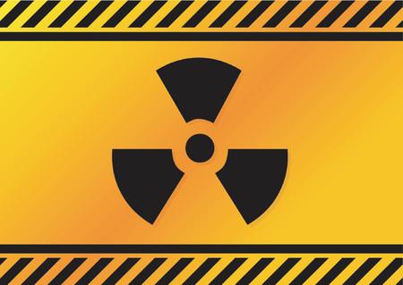 hazardous waste: Radioattivi segno  Vettoriali