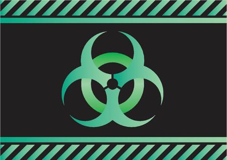 hazardous waste: Segno Biohazard  Vettoriali