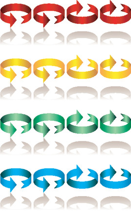 Ribbons with arrow heads_Arrow signs_Direction signs Vector
