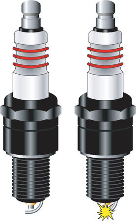 Sparkplug over white background Stock Vector - 623037