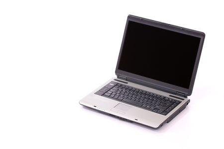 Open laptop over white background Stock Photo - 633856