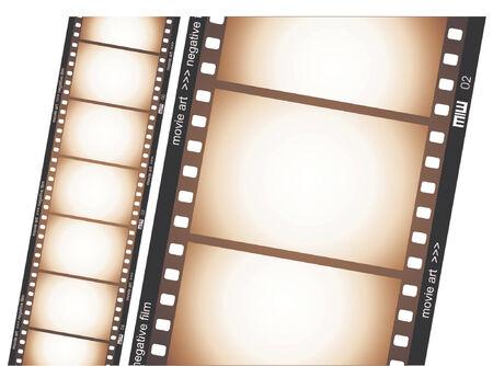 Old negative film strip Stock Vector - 658573