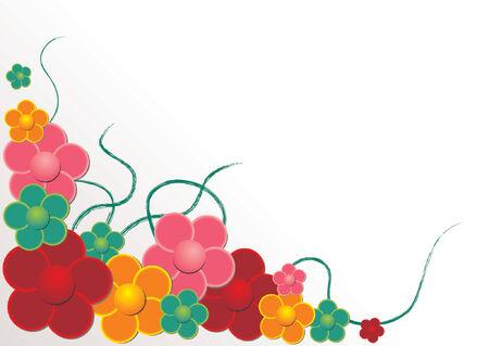 원예: Vectorial flower pattern - Ornamental pattern 일러스트