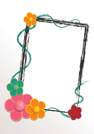 flourish frame: Vectorial flower pattern with frame