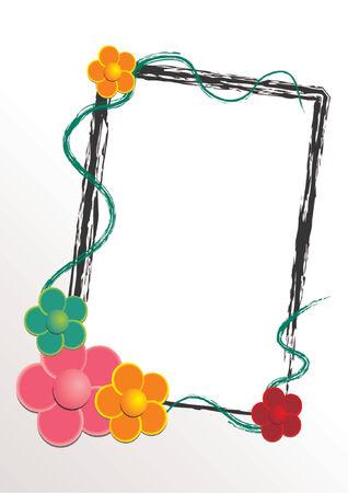 Vettoriale fiore modello con cornice