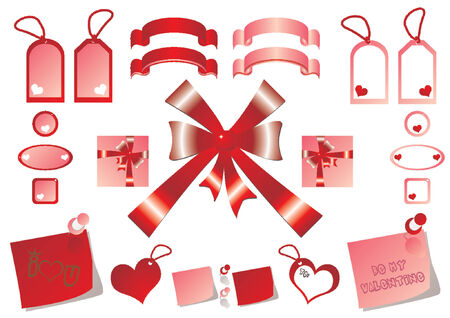 Tags bows and ribbons set for Valentines Day Stock Vector - 675959