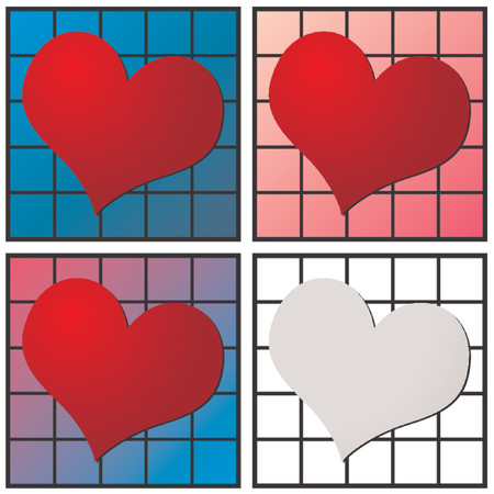 Heart pattern for valentines day. Use it individually or all together. You can change colors easily. Vector