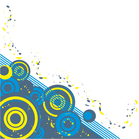 Abstract pattern with different colors over white background Ilustrace