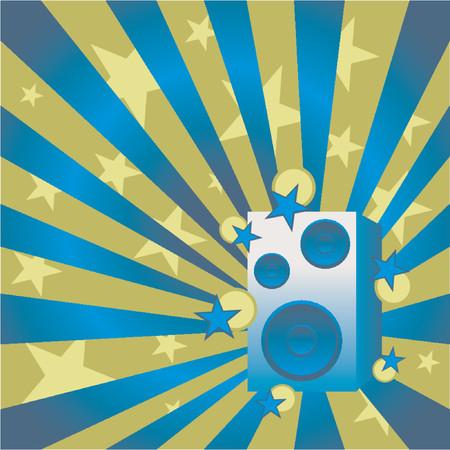 Loudspeaker over abstract pattern Vector