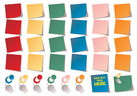 Reminders_Post it_Notes and different color pins