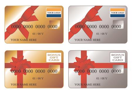 zastąpić: Karty kredytowe. Debetowych. Złoto i srebro premii dar karty. Włóż logo i zastąpić tekst jest bardzo proste.