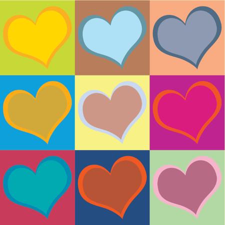 tu puedes: Coraz�n patr�n para el D�a de San Valent�n. Utilizar en forma individual o todos juntos. Puede cambiar f�cilmente los colores.