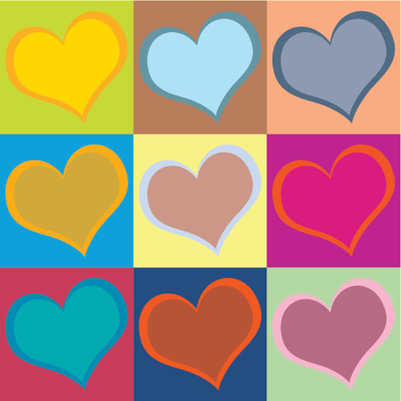 Heart pattern for Valentines Day. Use it individually or all together. You can change colors easily.